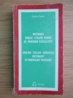 Anticariat: Teodor Flonta - Dictionar englez-italian-roman de proverbe echivalente