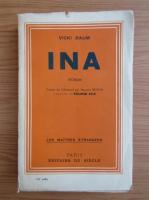 Anticariat: Vicki Baum - Ina (1933)