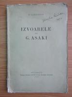 D. Caracostea - Izvoarele lui G. Asaki (1928)