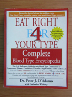 Anticariat: Peter J. DAdamo - Eat right for your type. Complete blood type encyclopedia