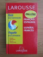 Anticariat: Petit dictionnaire francais-espagnol, espagnol-francais
