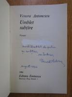 Anticariat: Venera Antonescu - Umblet subtire (cu autograf si dedicatie)