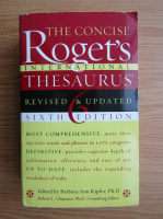 Anticariat: Barbara Ann Kipfer - The Concise Roget's International Thesaurus