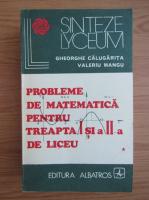 Anticariat: Gheorghe Calugarita - Probleme de matematica pentru treapta I si a II-a de liceu (volumul 1)