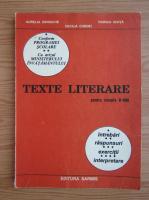 Aurelia Iordache - Texte literare pentru clasele V-VIII