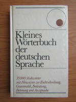Anticariat: Kleines Worterbuch der deutschen Sprache