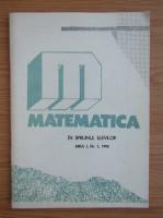 Matematica in sprijinul elevilor, anul I, nr. 1, 1992