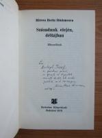 Mircea Horia Simionescu - Szazadunk elejen, deltajban (cu autograful si dedicatia autorului pentru Balogh Jozsef)