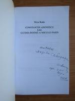 Anticariat: Nicu Buda - Constantin Aronescu sau ultima boema a Micului Paris (cu autograful lui Constantin Aronescu)