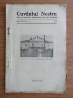 Anticariat: Revista Cuvantul nostru, anul VIII, nr. 5-7, mai-iulie 1937