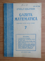 Anticariat: Revista Gazeta Matematica, anul XCIII, nr. 7, 1988
