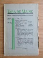 Revista Tara de Maine, anul III, nr. 9-10, septembrie-octombrie 1937