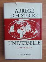 Anticariat: Abrege d'histoire universelle (volumul 1)