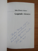 Anticariat: Iulia Maria Cristea - Legende vieneze (cu autograful autoarei)