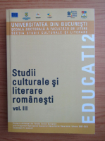 Anticariat: Studii culturale si literare romanesti (volumul 3)
