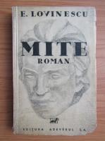 Anticariat: Eugen Lovinescu - Mite (1934)