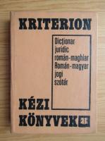 Hegedus Sandor - Dictionar juridic roman-maghiar