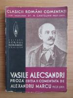 Alexandru Marcu - Vasile Alecsandri. Proza comentata (1939)