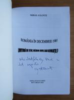 Anticariat: Mihai Axante - Romania in decembrie 1989. Lovitura de stat, razboi civil sau revolutie? (cu autograful autorului)