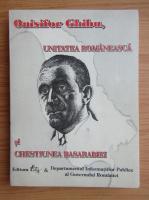 Onisifor Ghibu, unitatea romaneasca si chestiunea Basarabiei