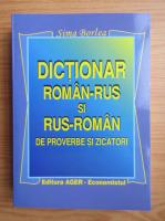 Anticariat: Sima Borlea - Dictionar roman-rus si rus-roman de proverbe si zicatori