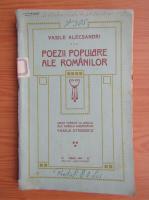 Anticariat: Vasile Alecsandri - Poezii populare ale romanilor (1914)