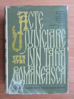 Anticariat: Acte judiciare din Tara Romaneasca 1775-1781