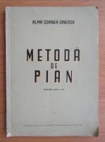 Alma Cornea Ionescu - Metoda de pian pentru anii I si II