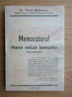Anticariat: Constantin Barbulescu - Memoratorul materiei medicale homeopatice
