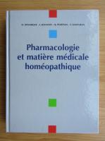 D. Demarque - Pharmacologie et matiere medicale homeopathique