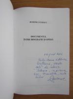 Anticariat: Dumitru Ivanescu - Documentul intre biografie si opera (cu autograful autorului)