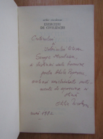 Anticariat: Otilia Nicolescu - Exercitiu de civilizatie (cu autograful autorului)