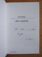 Anticariat: Doina Udrescu - Arta si societate (cu autograful autorului)