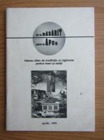 Anticariat: De la rasarit pana la apus, aprilie 1999
