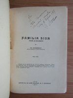Gh. Ungureanu - Familia Sion (cu autograful lui Gheorghe Sion, 1936)