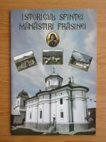 Anticariat: Istoricul sfintei manastiri Frasinei