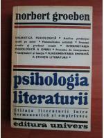 Anticariat: Norbert Groeben - Psihologia literaturii