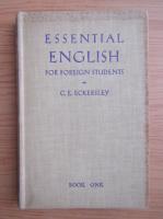 Anticariat: C. E. Eckersley - Essential english (volumul 1, 1938)
