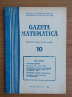 Anticariat: Gazeta matematica, anul LXXXIII, nr. 10, 1978