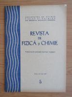 Anticariat: Revista de Fizica si Chimie, anul XIV, nr. 5, mai 1977