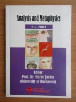 Anticariat: Marin Turlea - Analysis and Metaphysics