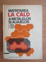 Anticariat: Vasile Chirita - Matritarea la cald a metalelor si aliajelor