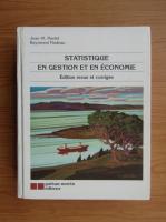 Anticariat: Jean M. Martel - Statistique en gestion et en economie