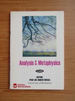 Anticariat: Marin Turlea - Analysis and metaphysics, nr. 1, 2002