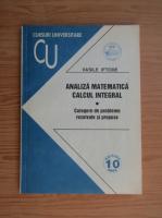 Anticariat: Vasile Miftode - Analiza matematica. Calcul integral