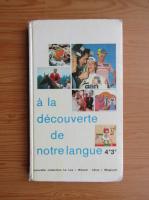 Anticariat: A la decouverte de notre langue