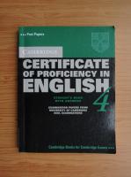 Anticariat: Cambridge certificate of proficiency in english (volumul 4)
