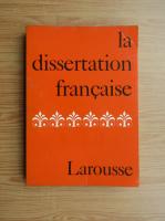 Anticariat: La dissertation francaise