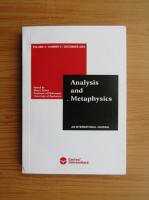 Anticariat: Marin Turlea - Analysis and Metaphysics, volume 4, nr. 2, 2006