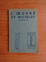 Anticariat: Philippe van Tieghem - L'oeuvre de Michelet